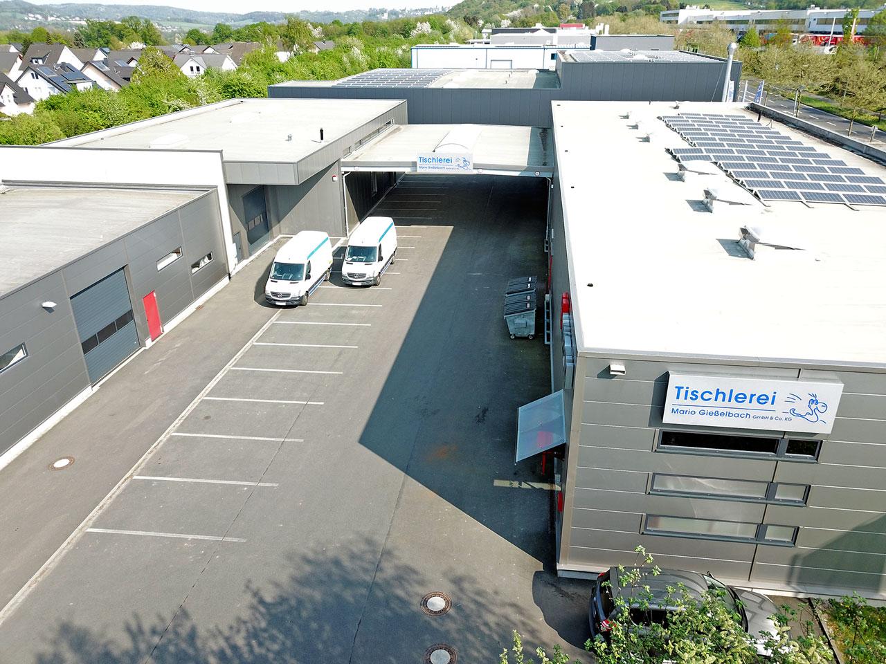 Luftaufnahme Tischlerei Gießelbach Hennef